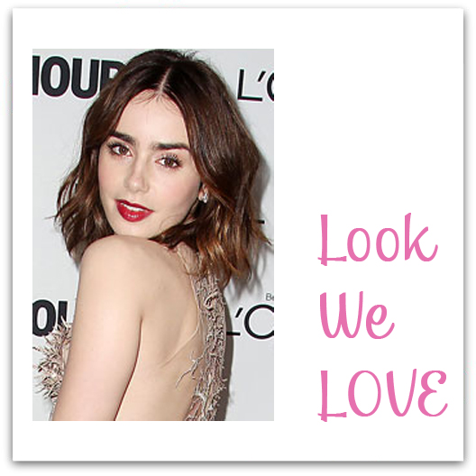 lilly collins at glamour awards