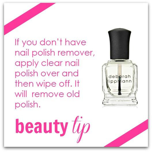beauty tip clear polish