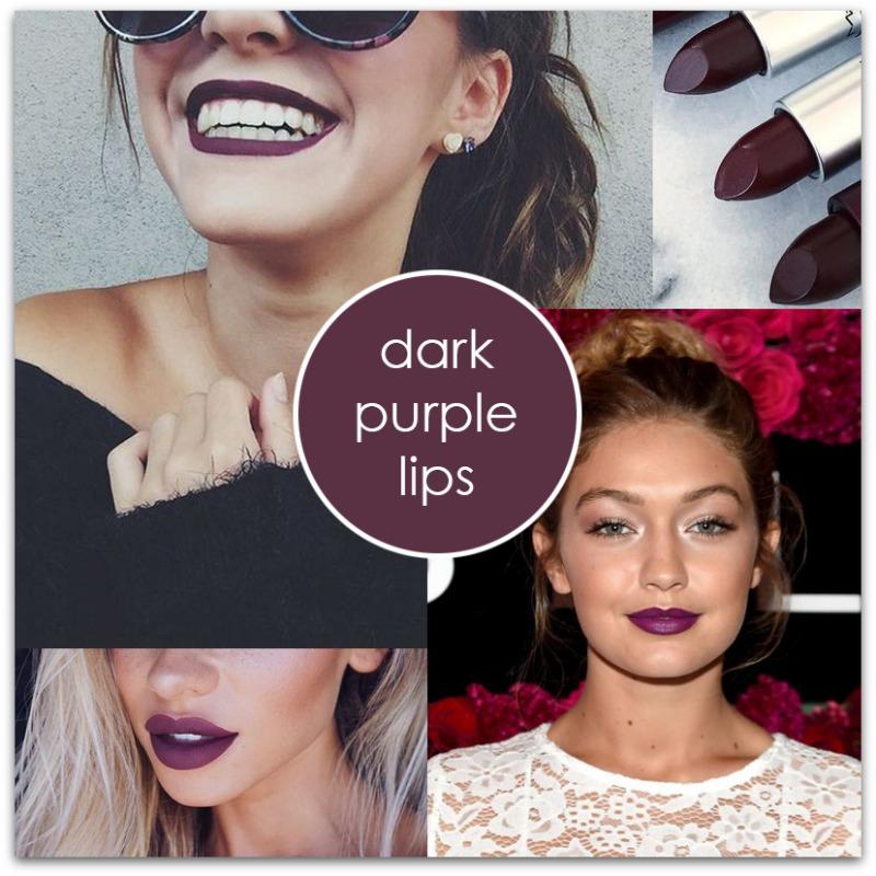 dark-purple-lips-trend | houppette